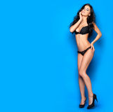 Sexy in biancheria nera Immagine Stock