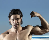 Sexy bicep guy Royalty Free Stock Photography