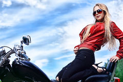 Sexy biker Royalty Free Stock Images