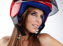 Sexy biker Royalty Free Stock Photos