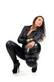 Sexy biker Stock Image