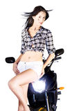 Sexy Biker Girl Royalty Free Stock Photo