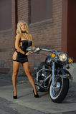 Sexy biker girl Royalty Free Stock Photos