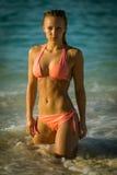 Sexy Bikini girl looks self-confident Stock Photo
