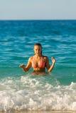 Sexy Bikini girl looks sexy Royalty Free Stock Image