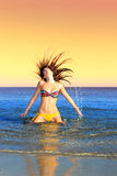 Sexy bikini model having fun Royalty Free Stock Photography