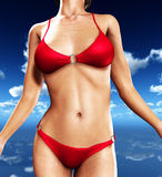 Sexy Bikini Torso. Up close view of a sexy female body in a bikini Royalty Free Stock Image
