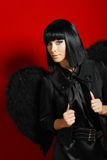 Sexy black angel Royalty Free Stock Photo