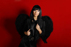 Sexy black angel Royalty Free Stock Image