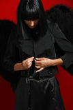 Sexy black angel Stock Photo