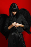 Sexy black angel Stock Images