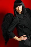 Sexy black angel Stock Photos