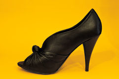 Sexy Black High Heel Stock Photography