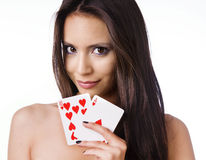 Sexy black jack girl Royalty Free Stock Photo