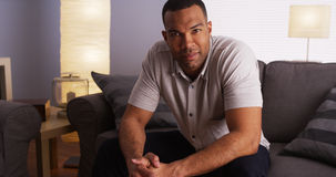 Free Sexy Black Man Sitting On Couch Stock Photos - 44819403