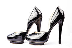 Sexy black shoes Stock Photos