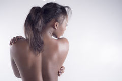 Sexy black woman from back Royalty Free Stock Images