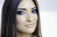 Sexy blaue Augen Lizenzfreies Stockfoto