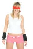 Sexy blindfolded woman Royalty Free Stock Image
