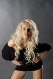 Sexy blond. Sexy women lean toward you Stock Photos