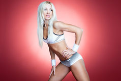 Sexy blond athlete Royalty Free Stock Photo