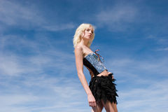 Sexy blond fashion girl Royalty Free Stock Photo