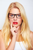 blond girl Stock Images