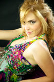 Sexy blond italian model smiling. Happy Royalty Free Stock Images