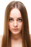 blond with long symmetric hair royalty free stock photo
