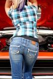Sexy blond mechanic. Stock Photos