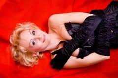 Sexy blond meisje Glam Stock Afbeelding