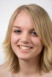 Sexy Blond met blauwe ogen stock fotografie