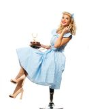 blond pin up woman Royalty Free Stock Images