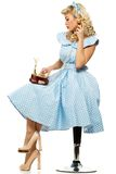 blond pin up woman Stock Image