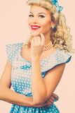 Sexy blond pin up woman Royalty Free Stock Photography