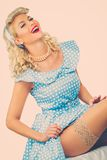 blond pin up young woman Royalty Free Stock Photo