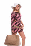 Sexy Blond Shopper Stock Photo
