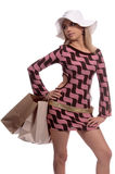 Sexy Blond Shopper Stock Images