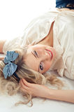 Sexy blond winks Stock Images