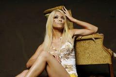 Sexy blond woman Stock Image
