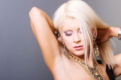 Sexy blond woman Royalty Free Stock Photography