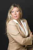 blond woman corporate head shot Royalty Free Stock Image