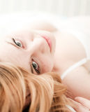 Sexy blond woman lay Royalty Free Stock Photography