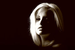 blond woman model royalty free stock photo