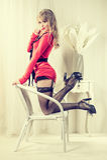 Sexy blond woman Stock Photo