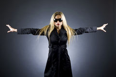 Sexy blond woman with sunglasses Royalty Free Stock Photos