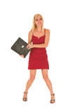 Sexy blonde businesswoman Stock Image