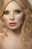 Sexy blonde curly woman Royalty Free Stock Images