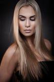 Sexy blonde Dame Lizenzfreies Stockfoto