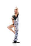 Sexy blonde dancing woman Royalty Free Stock Image